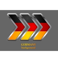 Abstract metallic arrow german colors vector