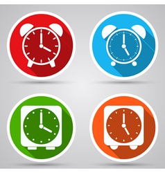 Alarm clocks collection vector image