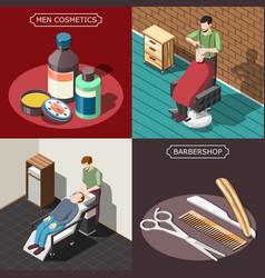 Barbershop isometric design concept vector