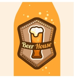 Beer house vector