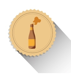 Bottle beer drink alcohol label shadow vector