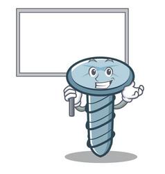 Bring board screw character cartoon style vector