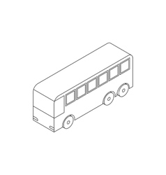 Bus icon isometric 3d style vector image