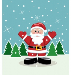 Christmas illustration of Santa vector image