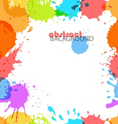 Color ink blots vector image vector image