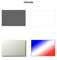 Colorado outline map set vector image vector image