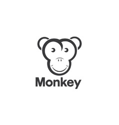 design template of an monkey vector image