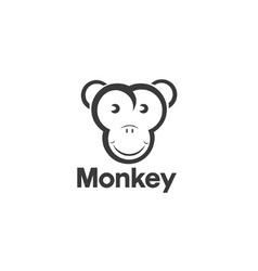 Design template of an monkey vector