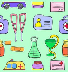 Doodle of medical object design vector