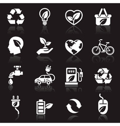 Ecology icons set1 vector image
