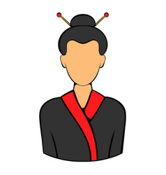 geisha icon cartoon vector image