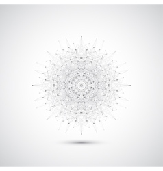 Geometric abstract form with connected lines and vector image