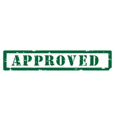 Green stamp approved vector image vector image
