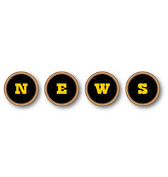 News typewriter keys vector