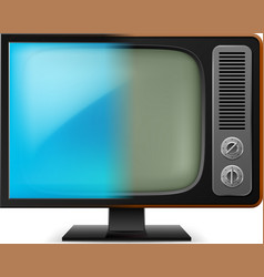 old television on white for design vector image vector image