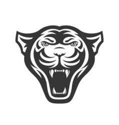 Panthers head logo for sport club or team animal vector