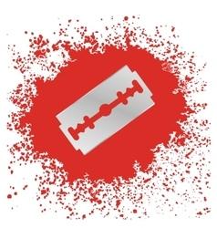 Razor blade icon vector