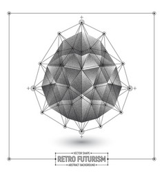 Retro futurism abstract background vector