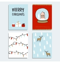 Set of christmas new year greeting journaling vector