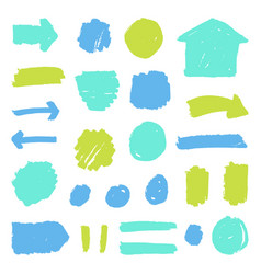 Set of paint grunge badges vector