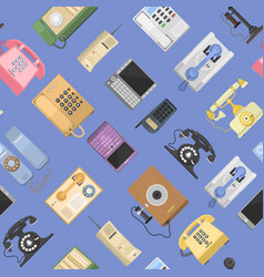 telephones icons sealess pattern isolated vector image vector image
