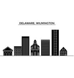 usa delaware wilmington architecture city vector image vector image