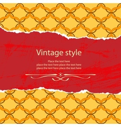 Vintage style template vector