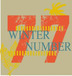 winter number vector image vector image