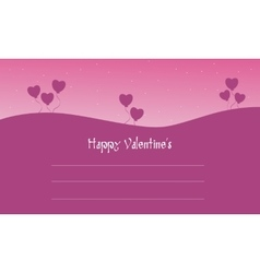 Happy valentine cards on pink backgrounds vector