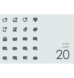 Set of e-mail icons vector image