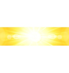 Banner panorma hot centered sun light vector