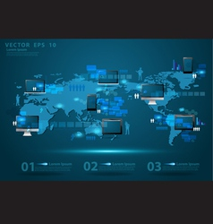 Modern global business technology concept vector
