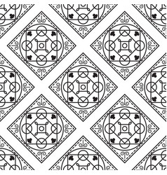 Portuguese black and white mediterranean seamless vector