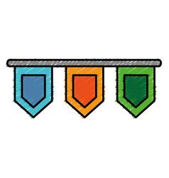 Decorative pennants icon vector