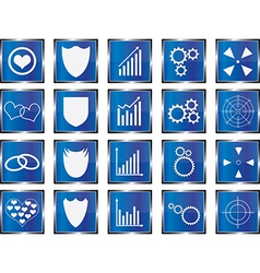 Blue concept buttons vector