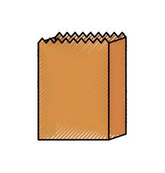 Paper bag bread bakery pastry shop vector