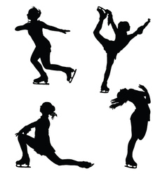 Figure skaters vector