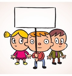 Three protest kids vector