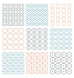 Fine seamless patterns vector