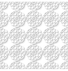 Floral muslim seamless decorative ornament white vector