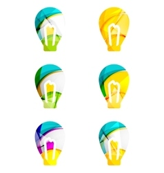 Set of abstract light bulb icons business vector