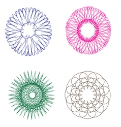 Spirograph holographic vector