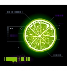 lemon modern background vector image