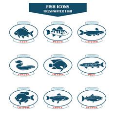 Fish icons in vector