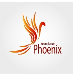Colorful phoenix logotype stock vector