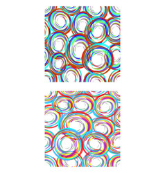 abstract seamless circle patterns in modern grunge vector image vector image