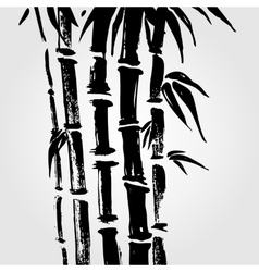 Bamboo in Chinese style vector image vector image