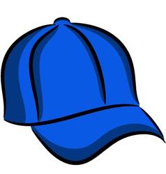 Blue cap vector image