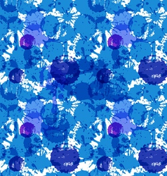 blue ink blots vector image vector image