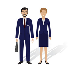 Business people male and female office employees vector